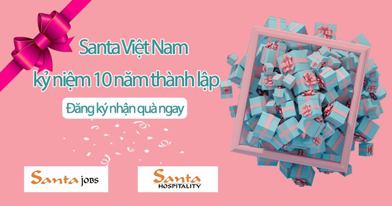 Santa Việt Nam kỷ niệm 10 năm thành lập - ngập quà tặng tri ân