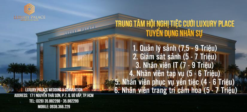 Nhan Vien Hanh Chinh Nhan Sự ở Luxury Palace Wedding