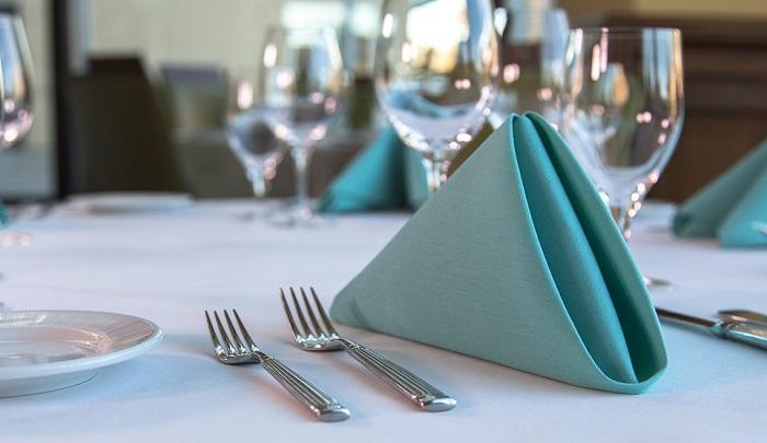 5 Cách gấp khăn ăn đẹp dùng trong nhà hàng, khách sạn