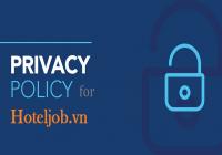 Chính sách bảo mật của Hoteljob.vn